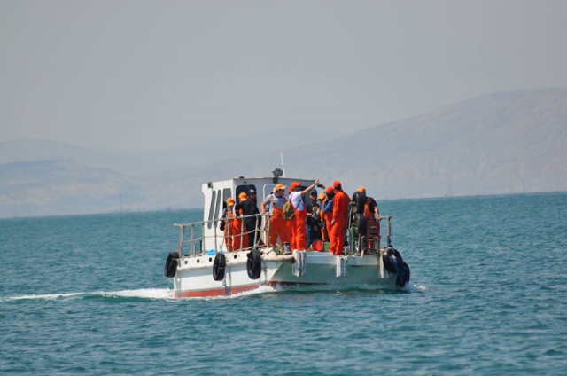 Scientific investigations have been held in Khara Zira island of the Caspian Sea